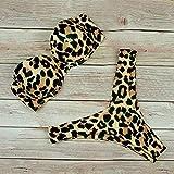 Bikini Traje De Baño De Bikini De Cintura Alta Sexy Traje De Baño De Mujer Leopard Conjunto De Bikini Brasileño Push Up Traje De Baño Mujer Verano Ropa De Playa L Leopard