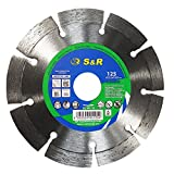 S&R Diamond Cutting Disc 125 x 22,2 x 10 mm, laser-welded Saw Blade for cutting granite, natural stone,...