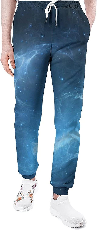 Blue Nebula 1 Sweatpants Man's Fashion Pants Joggers Daily bargain sale Portland Mall Lounge Athl