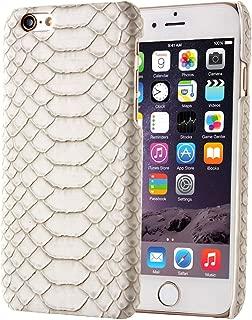 New Snakeskin Texture Hard Back Cover Protective Back Case for iPhone 6 & 6s(Black) Hopezs (Color : Beige)