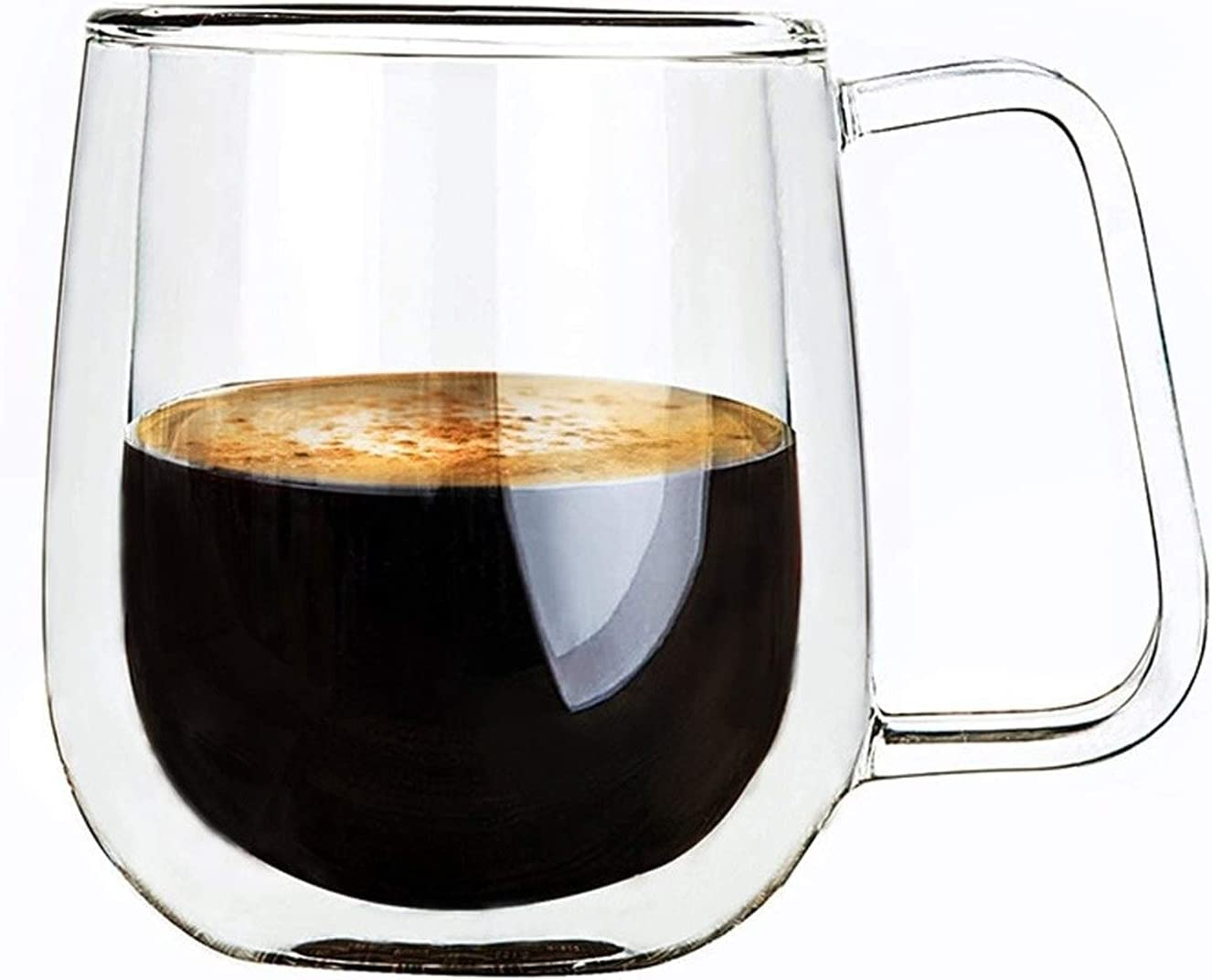 Cocktail Glasses Drinking Double NEW Regular discount before selling ☆ Wall Glass Mug Coffee