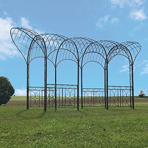 Großer Pavillon Pergola Kiosk Arche Eisen 561 cm