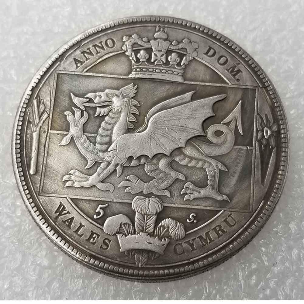 Moneda antigua de la corona Británica-Galesa de 1887 sin circulación, moneda británica antigua, vieja moneda conmemorativa de la suerte, descubre la historia de las monedas, de YunBest.: Amazon.es: Hogar