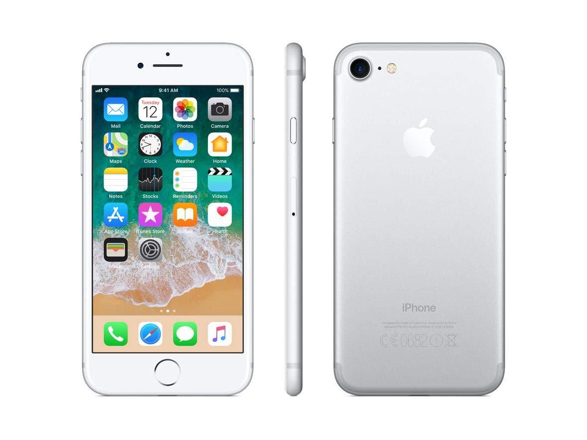 Apple iPhone 7, Boost Mobile, 128GB - Silver (Renewed)