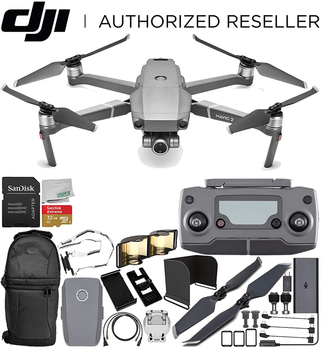 DJI Mavic 2 Zoom Drone Quadcopter with 24-48mm Optical Zoom Camera Every-Day Starter Bundle