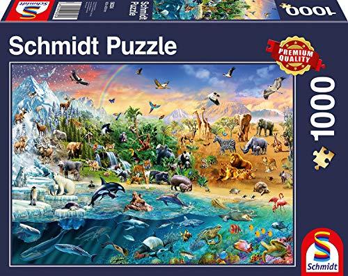 Schmidt Spiele Puzzle 58324 - Die Welt der Tiere, 1.000 Teile Puzzle