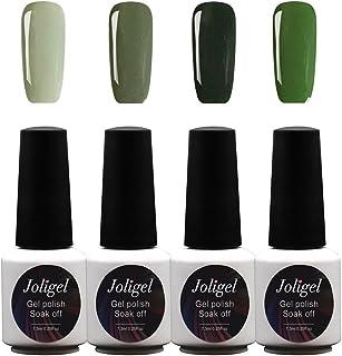 Serie Verde Joligel Kit 4x Esmaltes Semipermanentes Shellac para Uñas de Gel Set Pintauñas Permanentes Manicura Pedicura ...