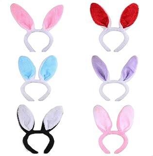 NUOLUX Plüsch Hase Ohren Haarbänder für Hochzeit Party Cosplay Kostüm, 6pcs
