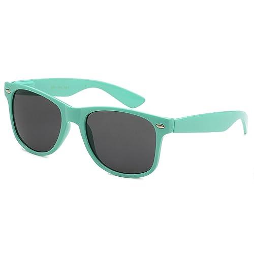 ca950c51d0a51a Sunglasses Classic 80's Vintage Style Design (Teal)