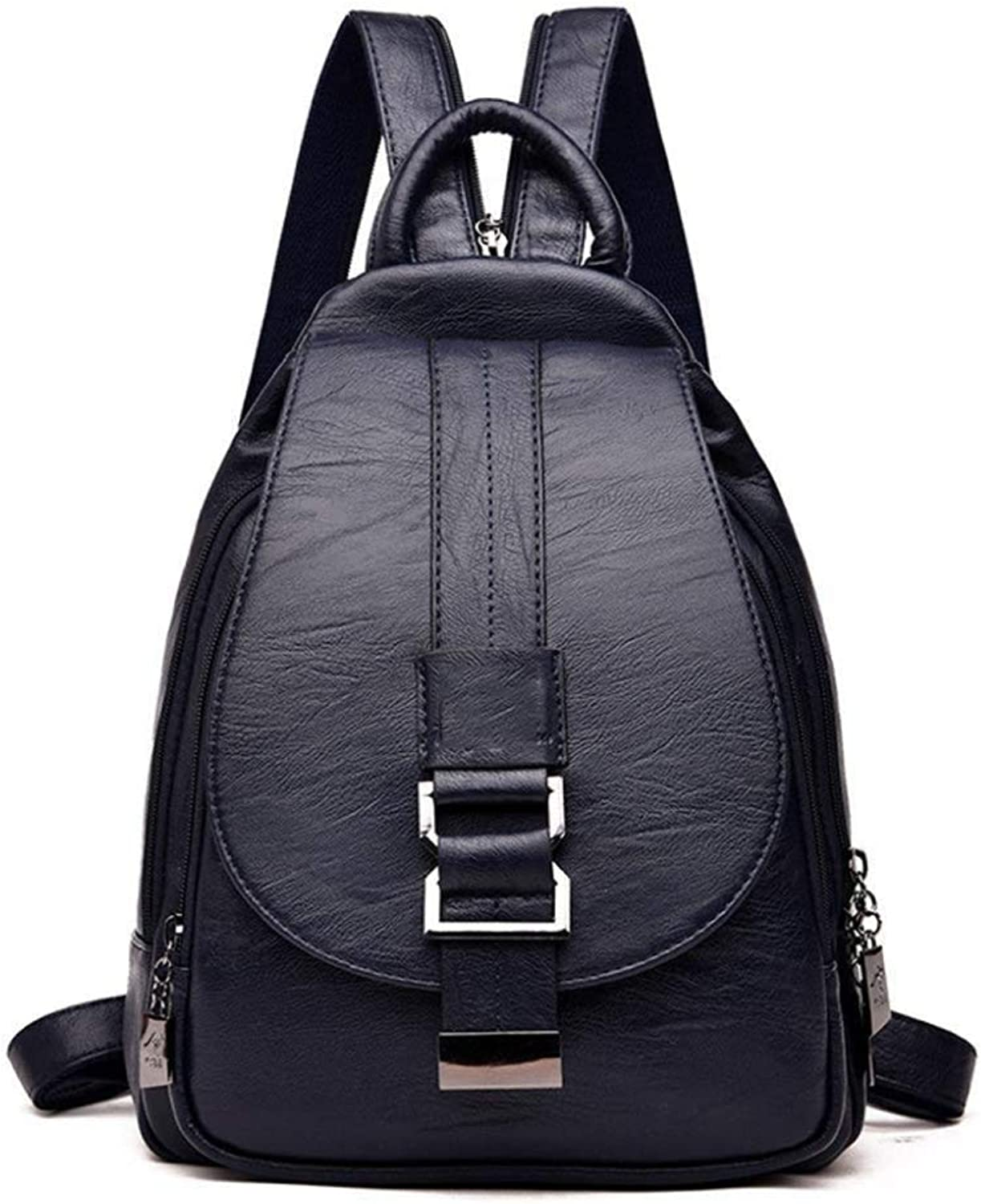 Sxuefang Women Leather Backpack Women's Chest Bag Simple Shoulder Bag Casual Soft Leather MultiFunctional Backpack 24x9x32cm