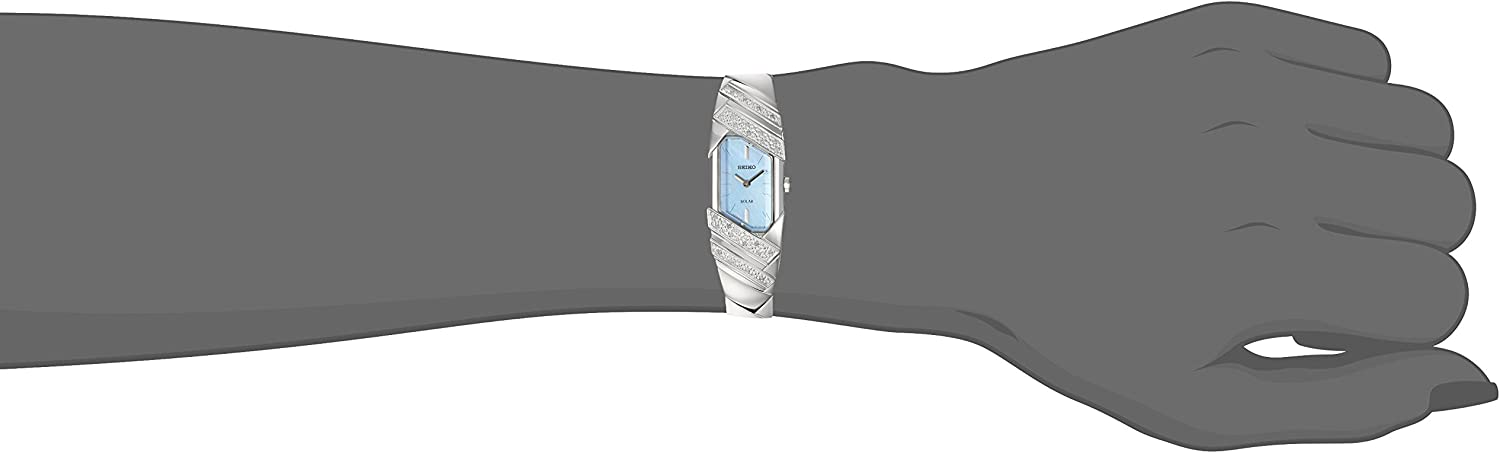 Seiko Womens TRESSIA Stainless Steel Japanese-Quartz Watch with Stainless-Steel Strap, Silver, 10 (Model: SUP331)