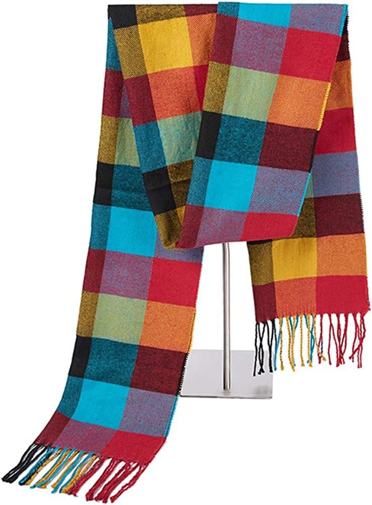 Promices Super Soft Luxurious Classic Cashmere Feel Scarf Unisex Winter Plaid Scarves For Men and Women