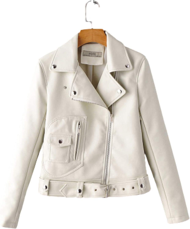Super sale Jubaton Women's Autumn Jacket Fashion Collar O Lapel Color Solid Max 48% OFF