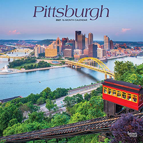 Pittsburgh 2021 12 x 12 Inch Monthly Square Wall Calendar, USA United States of America Pennsylvania Northeast City