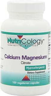 NutriCology Calcium Magnesium Citrate 100 Vegetarian Capsules