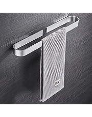 Handdoekhouder zonder boren, zelfklevend, voor badkamer en keuken, aluminium handdoekstang met gepatenteerde lijm, matte afwerking, 40 cm