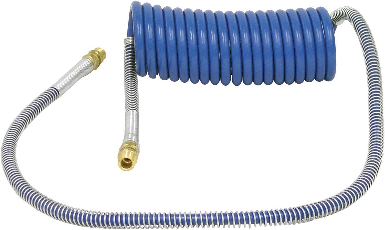 Minneapolis Mall Tectran 15 Topics on TV ft. Blue Tractor-Trailer Brass Hose Air Coil Brake