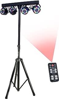 Ibiza Light DJLIGHT80LED, Stand Luci RGBW 4x Par, Nero