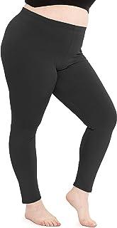 Women's Cotton Plus Size Leggings | Stretchy | X-Large -...