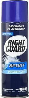 Right Guard Aerosol Sport Powder Dry Antiperspirant, 6 oz ( Pack of 2)