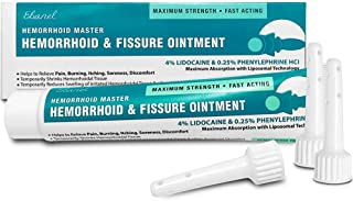 Ebanel Hemorrhoid Treatment Ointment, 1.6 Oz Lidocaine Anal Fissure Anesthetic Cream for Pain, Burning, Itching, Swelling,...