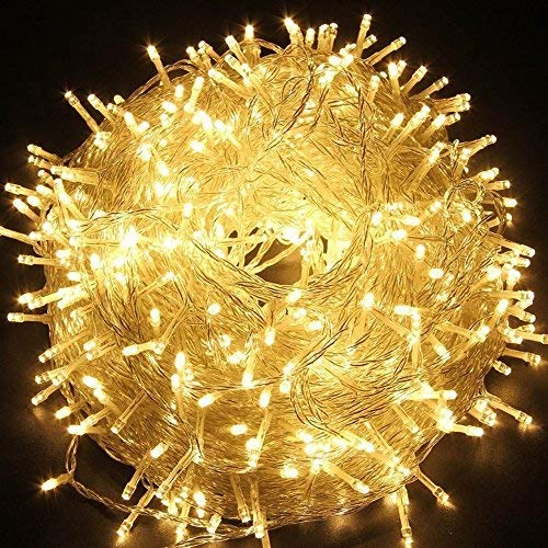 Fairy String Light, EONHUAYU 10M 80 LED Guirlandes D'arbre de Noël avec 2 Mode D'éclairage Fonctionnant à Piles pour le Jardin de Partie D'arbre de Noël (Warm White)