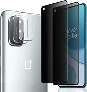 [3 Pack] Camera Lens Protector and [2 Pack] Privacy Screen Protector for OnePlus 8T / 8T 5G (2020), [Full Coverage] Anti-S...