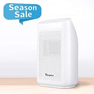 Vacplus Dehumidifier with 700ml (24fl.oz) Capacity, Mini Dehumidifiers for Spaces Up to 2000 Cubic (215 sq ft), Portable & Compact Dehumidifier(Auto Shut Off) for Closet/Kitchen/Bedroom/RV/Basement
