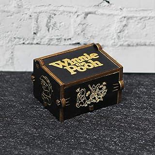 IANSISI Caja Musica Niña Mango De Madera Tallado Negro The Legend of Zelda Star Wars Juego De Tronos Caja De Música Caja De Música De Madera Regalo De Cumpleaños Winnie The Pooh: