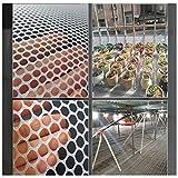 LPAG Katzenschutznetz Geflügelzuchtnetz Treppengeländernetz Gartenzaun Festes weißes Plastiknetz, Pflanzenschutznetzwerk für Kinder Mesh 1,2 cm (Size : W4.9'xL9.8'(1.5mx3m))