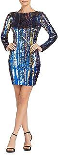 Dress the Population Women's Lola Long Sleeve Sequin Dress