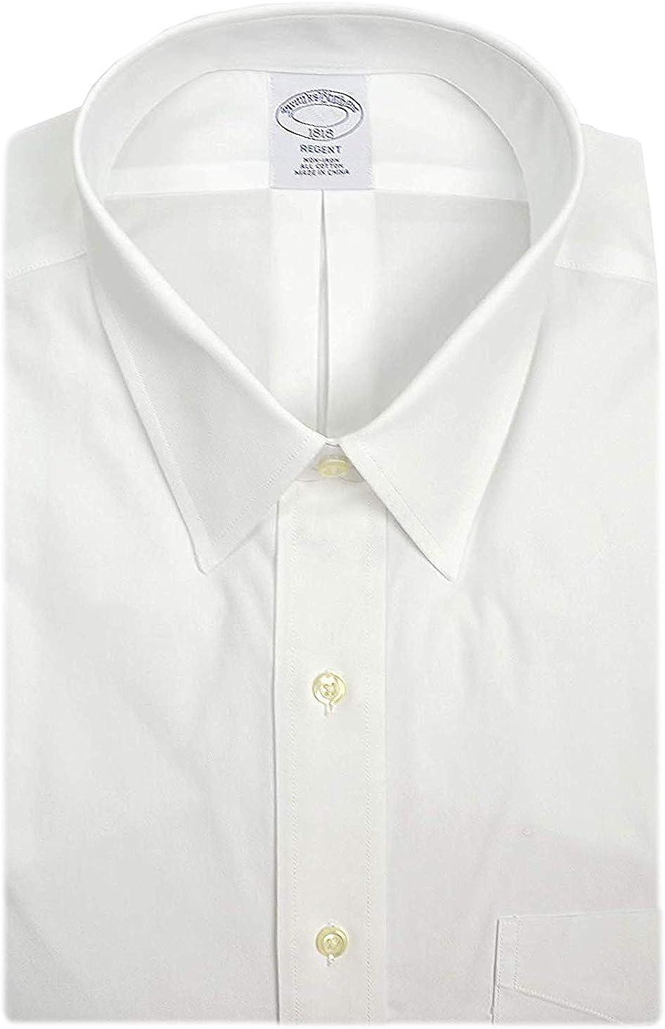 Brooks Brothers Mens Regent Fit Non Iron 100% Cotton Pocket Dress Shirt Bright White