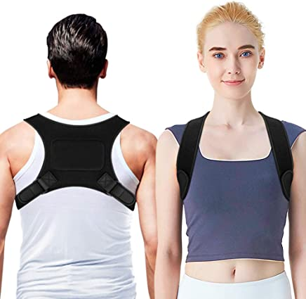 OMERIL Posture Corrector, Adjustable Posture Brace Trainer Spinal Support for Women and Men, Shoulder & Back Support Brace for Improve Bad Posture, Shoulder, Back, and Neck Pain Relief (25 – 48 in)