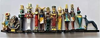 置物樹脂の像の大きさを持つ13の雑誌の古代エジプトエジプトの神セット5「高(Khnoum、Apademar、Gueb、Anouket、Tatenen、へぇ、アナット、Tutenchamon、イシス、Oupouaout、Sokaris、Nefer...