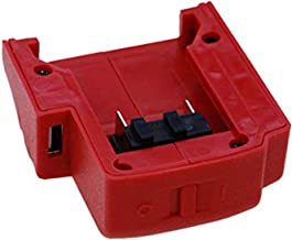 XBERSTAR USB Ports Battery Charger Adapter Adaptor for Milwaukee 49-24-2371 M18