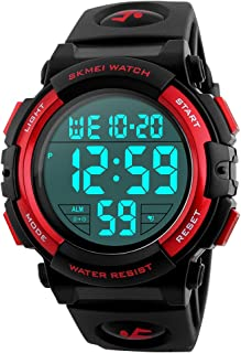 Boys Waterproof Outdoor Sports Watches,Skmei Electronic LED Digital Multifunction Girls Kids Wrist Watch,W/Alarm Back Light