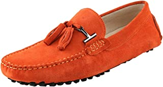 Men's New Tassel Suede Driving Loafers Penny Boat Shoes