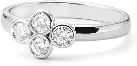 Clover Shaped Kensington Forever Classic Moissanite Ring, 0.40cttw DEW by Charles & Colvard
