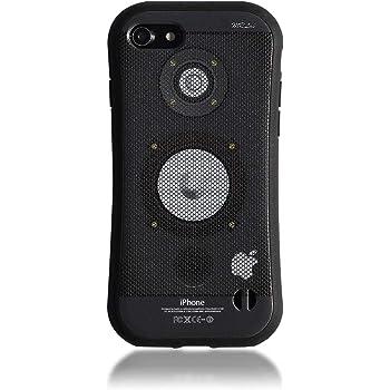 MRLab iPhone SE2 (SE 第2世代) / iPhone8 / iPhone7 ケース 格好良い 音楽 スピーカー メンズ 【 アンプ 耐衝撃 ケース 】 黒 460