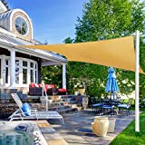 Ohuhu Sun Shade Sail 8' X 10' with 8-Inch Sturdy Hardware Kit Stainless Steel, 100% HDPE Rectangle...