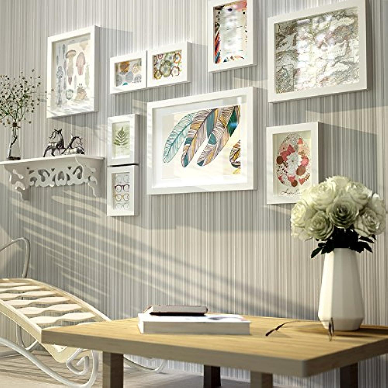 comprar ahora Sólido Madera Marco de fotos–juego de sala de estar comedor comedor comedor es Simple y moderna Foto Foto marco  Venta barata