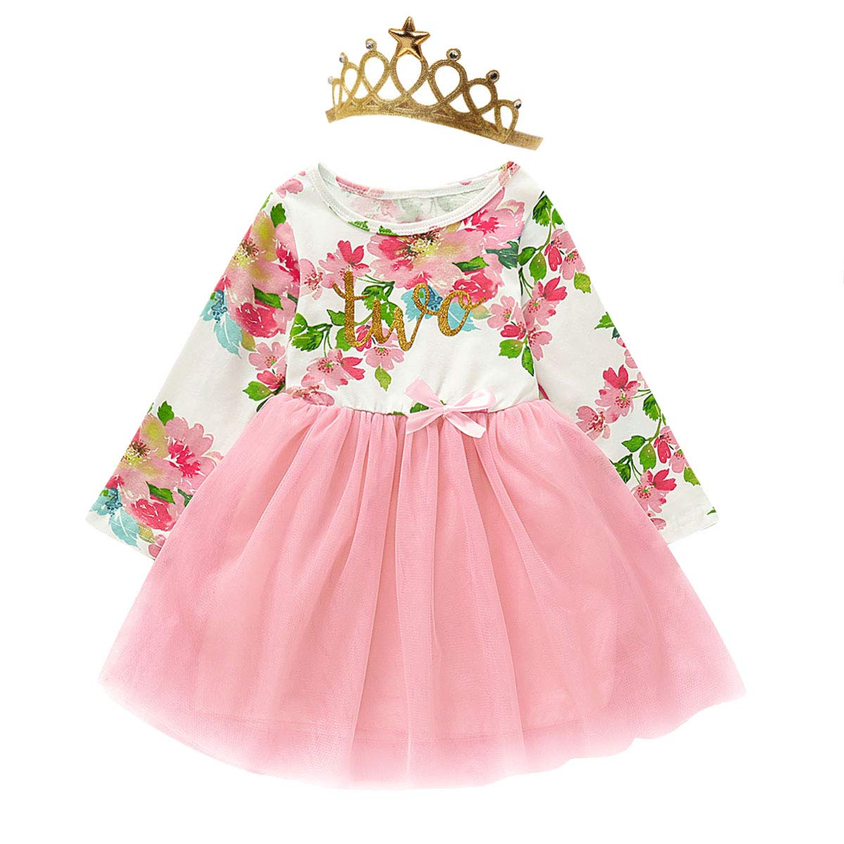 Baby Girl Birthday Dress Set Little Girls Floral Lace Outfit Sets