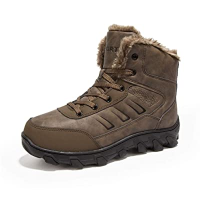 UBFEN Winter Warm Snow Boots Men Shoes Fully Fu...