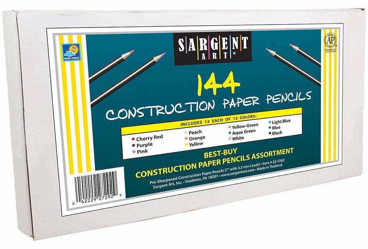 Sargent Art 144-Count Construction Paper Colored Pencil Class Pack, Best Buy Assortment, 22-7292