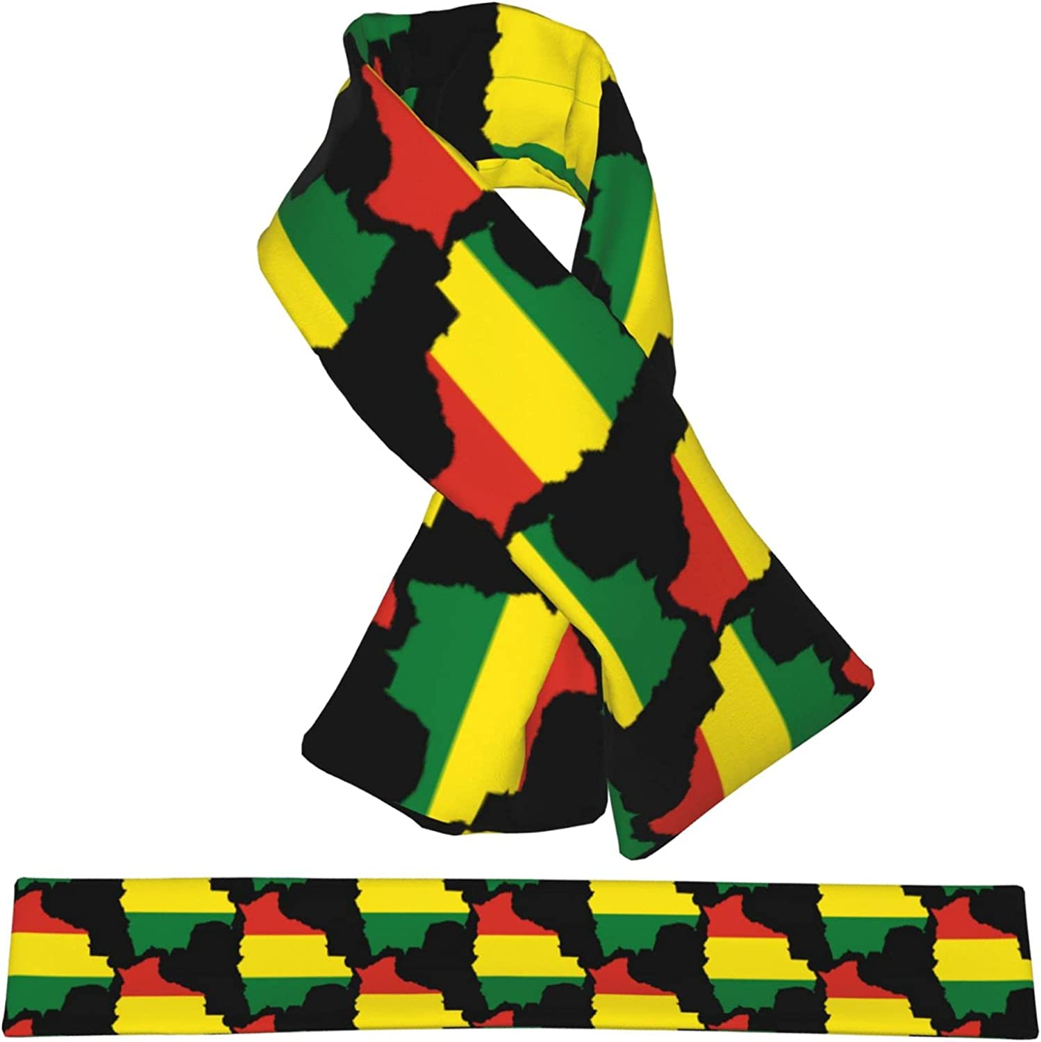 Flag Map Of Bolivia Flannel Cross W Scarf Collar Wrap Neck Safety and trust San Diego Mall Shawl
