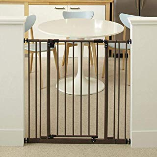 """North States 38.5"""" Wide Extra-Tall Easy-Close Baby Gate: Equipped with Triple Locking System - Ideal for doorways Needing Taller barriers. Pressure Mount. Fits 28""""-38.5"""" Wide (36"""" Tall, Bronze)"""