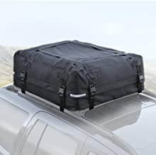 BDK RC100 TopHaul Waterproof Roof Top Cargo Bag XL for Car Auto SUV Van - Soft Rooftop Carrier - Easy to Install (42 x 42 x 16 inch)
