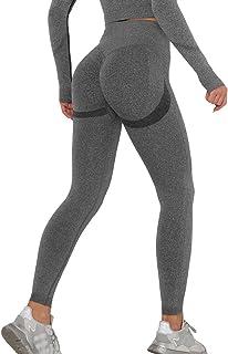 KIWI RATA Leggins Deportivos Mujer Push up Mallas Pantalones Cintura Alta Yoga Leggings Pantalón Moda Sin Costuras para Fi...