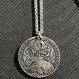 VAWAA Cool Men Águila de Dos Cabezas para Hombre Acero Inoxidable Escape Retro Coin Personalidad Moda Tendencia Colgante Collar