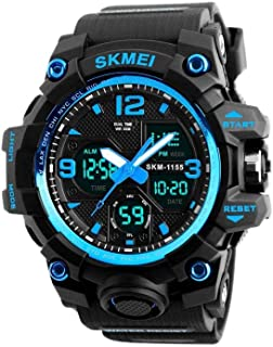 Men Watch Electronic Wristwatch Analog Digital Outdoor Easy Read Watch with Back Light